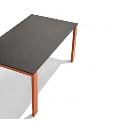 Tavolo Dorian Metal CB/4815-R160 Connubia - Struttura Zafferano opaco e Piano in ceramica Stone