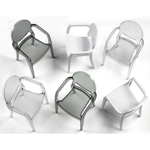 Sedie Trasparenti Con Braccioli.Sedia Con Braccioli Modello Igloo 235 Di Scab Design