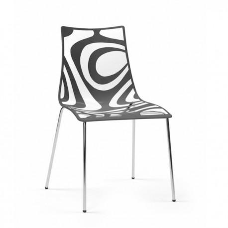 Sedia modello wave 4 gambe 2266 di scab design for Sedie cucina metallo