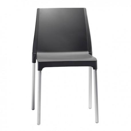 SEDIA CHOLE' MON AMOUR 2633 - Gambe in alluminio anodizzato e seduta in tecnopoliemro Antracite 81.