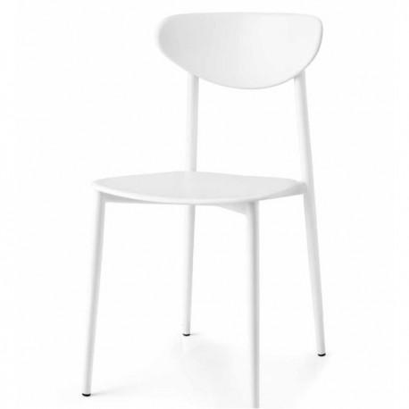 SEDIA GRAFFITI CB/1413 -  Struttura in metallo, seduta e schienale in polipropilene in tinta Bianco Ottico Opaco P94.