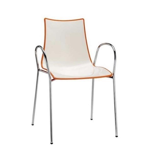 Sedie Con Braccioli.Sedia Zebra Bicolore 2610 Scab Design