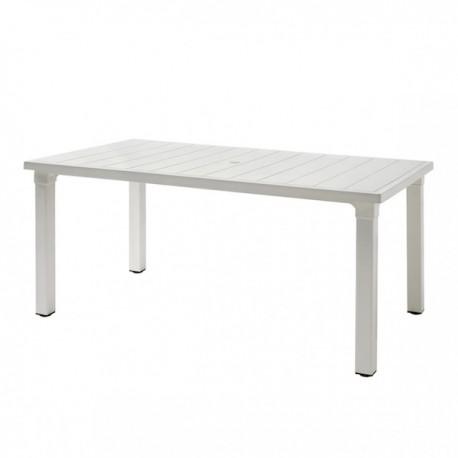 TAVOLO ERCOLE 2145 - Piano e gambe in tecnopolimero rinforzato nel colore Lino 11. Prettamente per esterno.