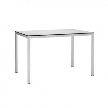 TAVOLO MIRTO 2421 - Gambe in metallo verniciato Bianco VB e piano in stratificato Piano 10. Per ambienti interni.