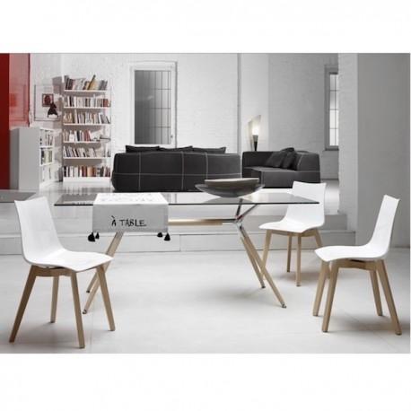Tavolo Design Legno Naturale.Tavolo Natural Metropolis Con Piano Rettangolare Scab Design