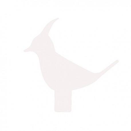 ACCESSORIO BIRD PER APPENDIABITI BAMBOO - Realizzato in acciaio verniciato nel colore Bianco.