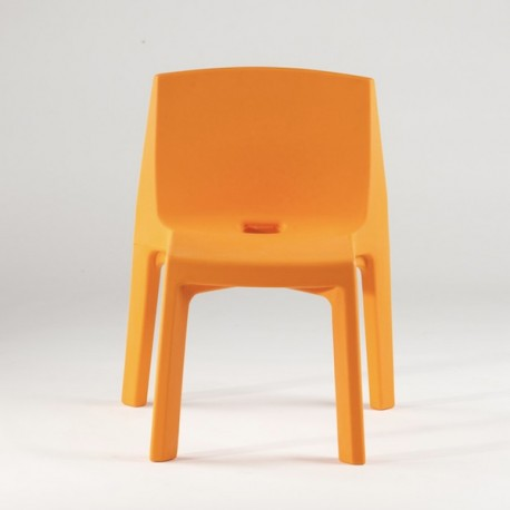 Sedia in materiale plastico modello q4 slide for Sedie design grigie