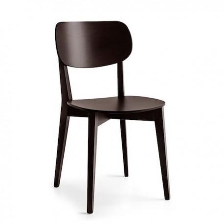 SEDIA ROBINSON CB/1436 - Struttura e sedile in legno di faggio Wengè P128