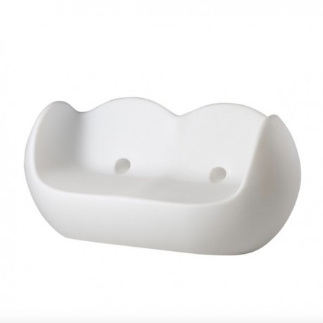 DIVANETTO A DONDOLO BLOSSY BLO086 - In polietilene nel colore Bianco Latte FT. Anche per spazi all'aperto.