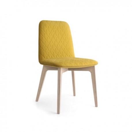 SEDIA SAMI CB/1472 - Gambe in legno di frassino Natural P27 e seduta in tessuto Oslo Senape S08.