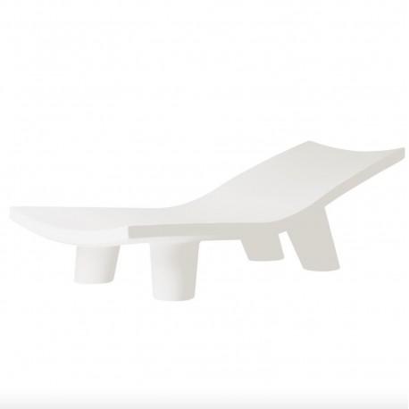 CHAIS LONGUE LOW LITA LOUNGE LLL060 - Lettino prendisole in polietilene nel colore Bianco Latte FT.