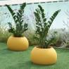 VASO BLOS POT BLP032 - Realizzato in polietilene nel colore Giallo Zafferano FB, per interno ed esterno.