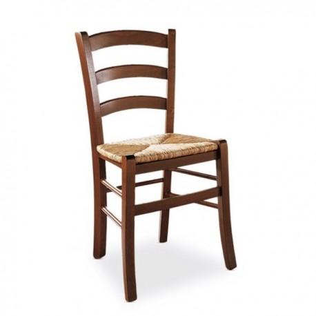 SEDIA VENEZIA CB/1117 - Struttura in legno Noce Rustico P209, seduta in Paglia di Riso 045