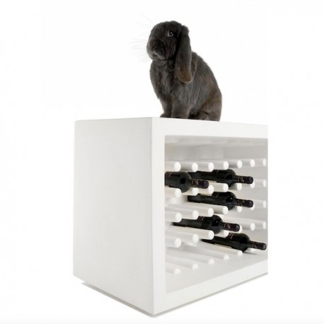Portabottiglie Bachus WBA055 - In polietilene nel colore Bianco Latte FT, fino a 40 bottiglie.