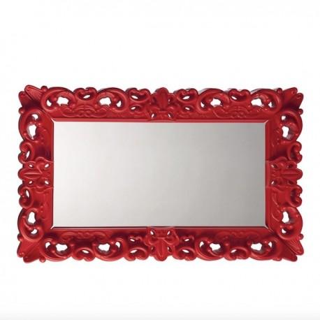 Specchio Mirror of Love Rettangolare - Struttura in polietilene nel colore Rosso Fiamma FD, nella misura 162 x 99