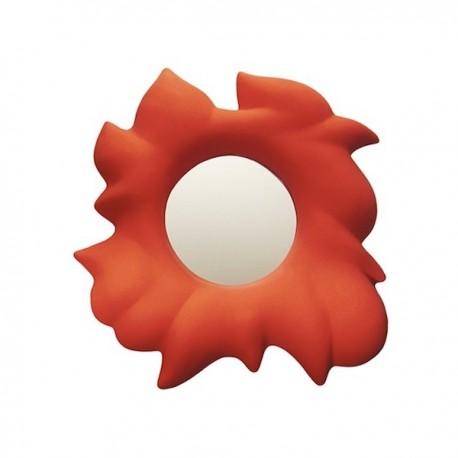 Specchio Liq LIQ045 - Cornice in polietilene nel colore Rosso Fiamma FD.