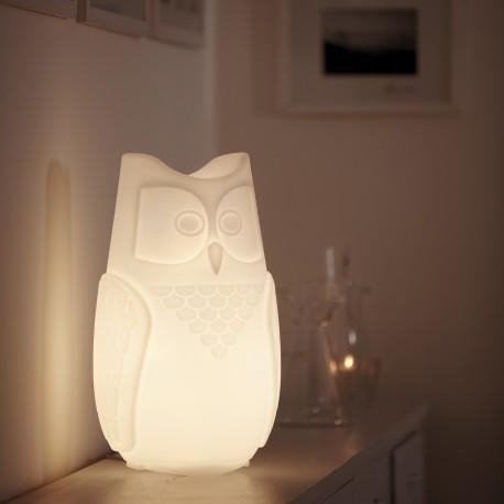 Lampada da tavolo Bubo BUB040 - In polietilene nel colore luminoso Bianco LA, altezza 44 cm.