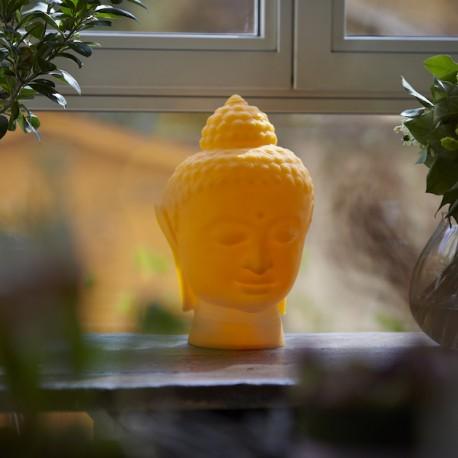 Lampada da tavolo Buddha - Alta 34 cm in polietilene nel colore Arancio Luminoso