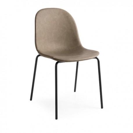 SEDIA ACADEMY CB/1663-V - Gambe in metallo Nero con seduta in similpelle Vintage Deserto S0A.