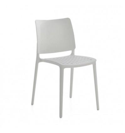Sedia Blues - In polipropilene nel colore Bianco, anche per esterno.