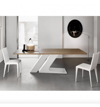 Tavolo TL fisso - Struttura in metallo verniciato e piano in vari materiali e dimensioni.