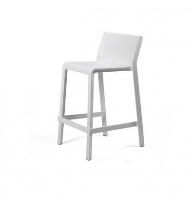Sgabello Trill Stool - Altezza della seduta 65 cm, in polipropilene nel colore Bianco.