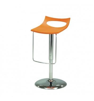 Sgabello Diavoletto U 2290-30 - Struttura in metallo cromato e seduta in polipropilene Arancio.