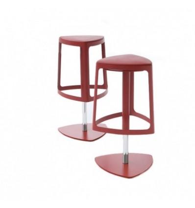 Sgabello Clip girevole - Struttura in metallo e sedile in poliuretano espanso i4 colori differenti.