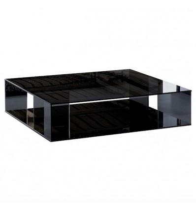 Tavolino Folio - Realizzato interamente in cristallo spessore 10 mmm Nero Fumè, da 100 x 100.