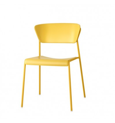Sedia Lisa Tecnopolimero 2865 - Struttura in metallo, seduta e schienale in polipropilene Senape.