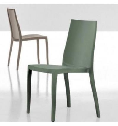 Sedia Pangea - In polipropilene nel colore Verde Oliva, anche per esterno.