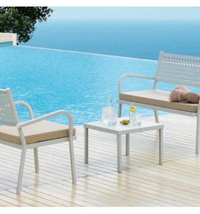Tavolino Alice Vermobil - Colore bianco Goffrato