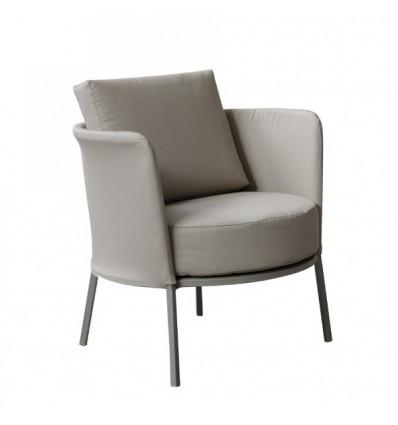 Poltrona Lounge Desiree Fabric di Vermobil - Struttura Fango, Tessuto Talpa