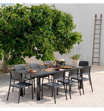 Tavoli E Sedie Da Giardino Nardi.Set Da Giardino Composto Da Tavolo Levante E 6 Sedie Bora Di Nardi