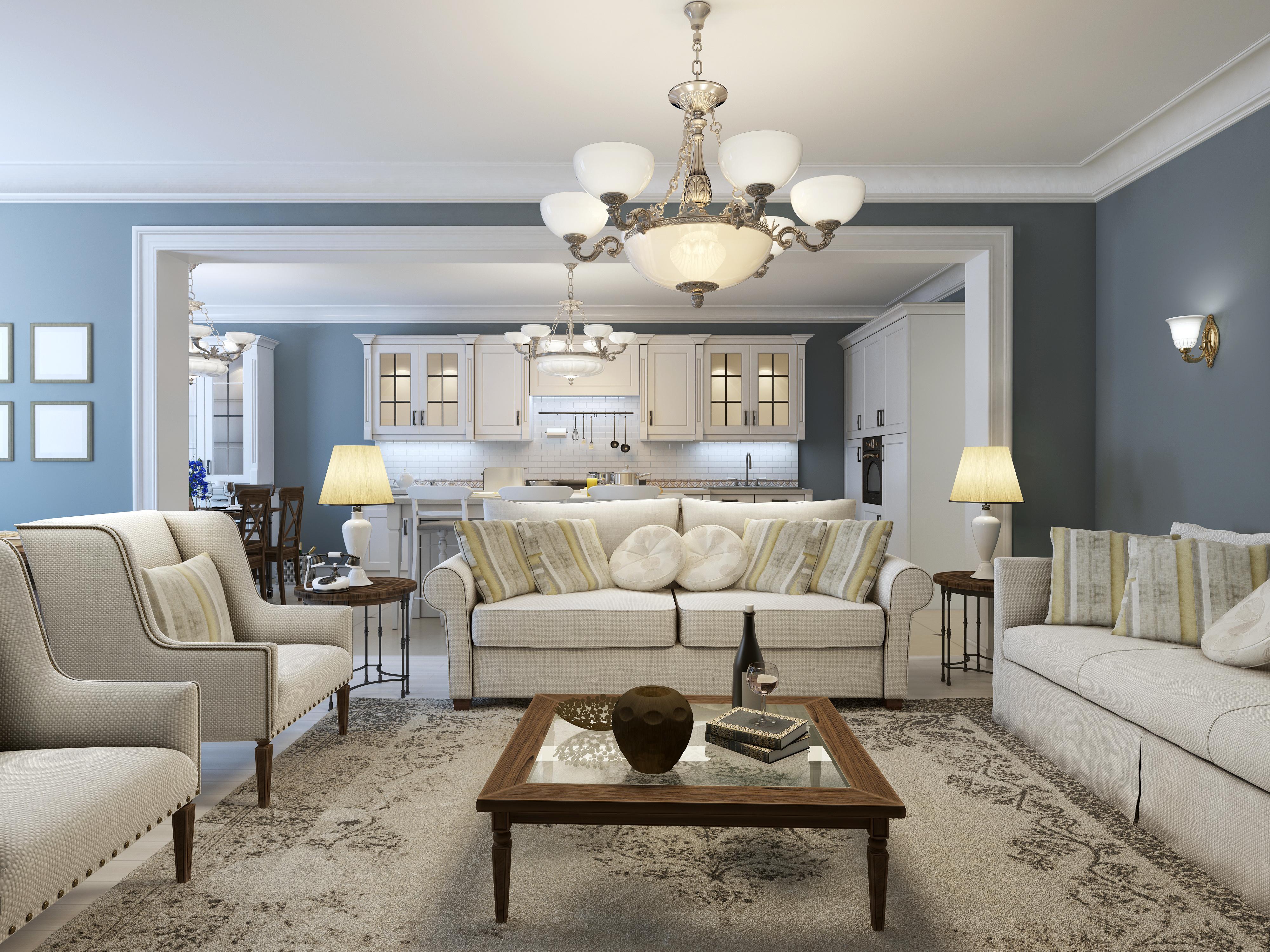 soggiorno in stile classico - Linea Esse